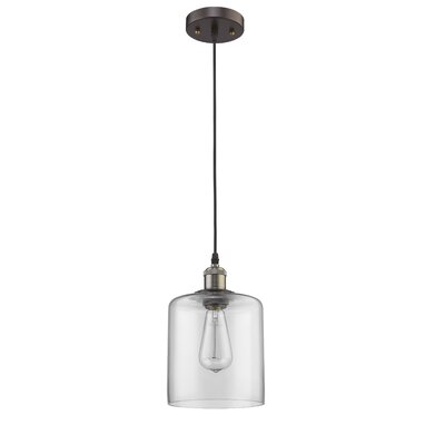 Bouvet 1-Light Mini Pendant Shade Color: Clear