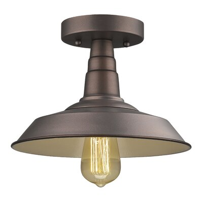 Bouvet 1-Light Semi Flush Mount