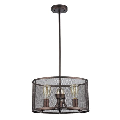 Bouvet 3-Light Drum Pendant