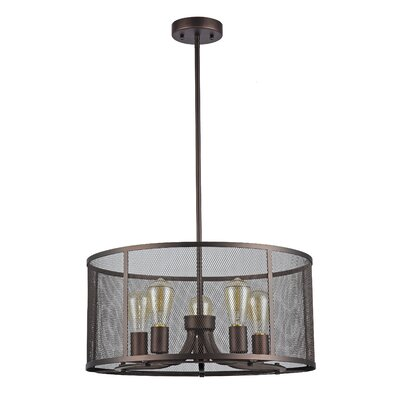 Bouvet 5-Light Drum Pendant