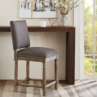 Remy 24 inch Bar Stool Upholstery: Grey