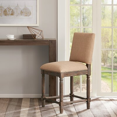 Remy 24 counter height Stool Upholstery: Tan