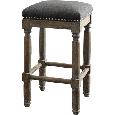 Remy 26 Bar Stool Upholstery: Gray