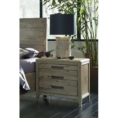 Descartes 3 Drawer Nightstand