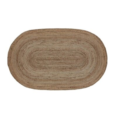 Gladys Natural Area Rug Rug Size: Oval 5 x 8