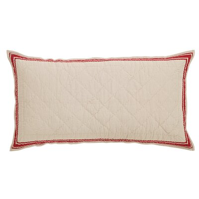 Boucher Sham Size: Luxury, Color: Red