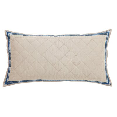 Boucher Sham Size: Standard, Color: Blue