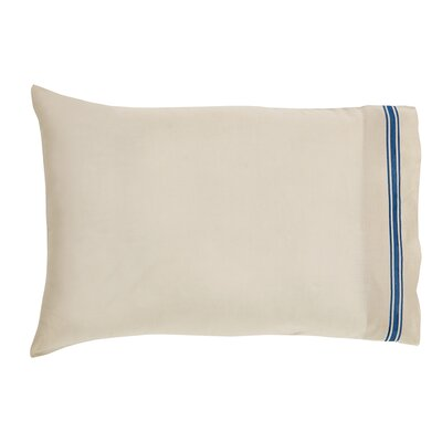 Boucher Cotton Pillow Cover Color: Blue