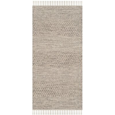 Oxbow Hand-Woven Ivory/Steel Grey Area Rug Rug Size: Rectangle 6 x 9