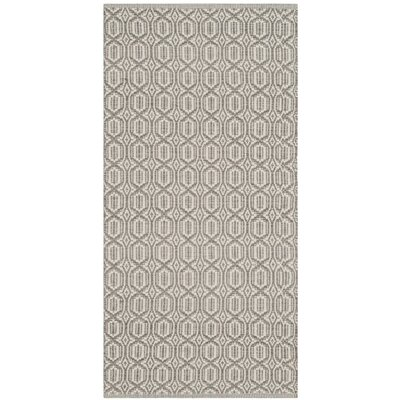 Mooreton Hand-Woven Ivory/Gray Area Rug Rug Size: Round 6