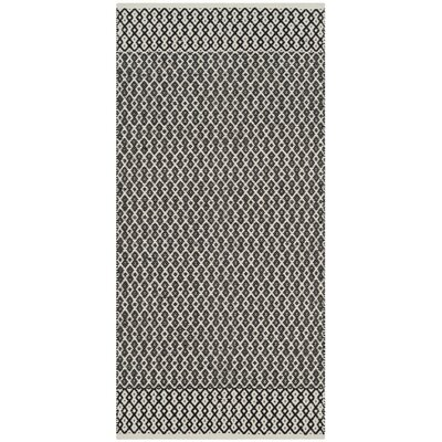 Mooreton Hand-Woven Ivory/Black Area Rug Rug Size: Rectangle 8 x 10