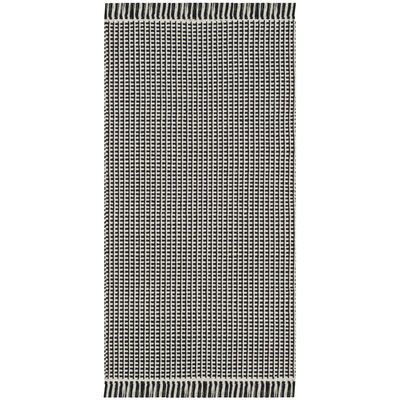 Oxbow Hand-Woven Cotton Ivory/Black Area Rug Rug Size: Rectangle 3 x 5