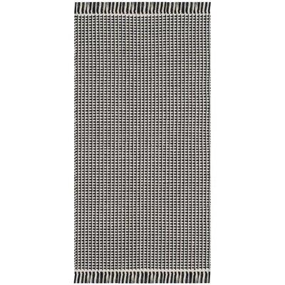Mooreton Hand-Woven Ivory/Black Area Rug Rug Size: 5 x 8