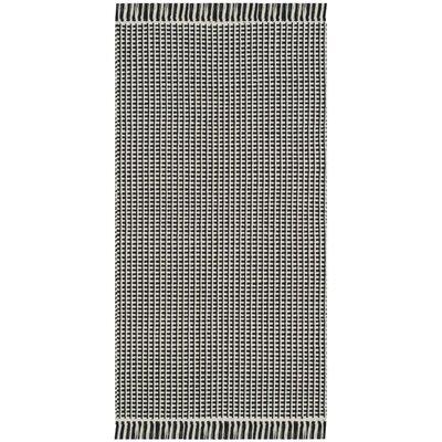 Mooreton Hand-Woven Ivory/Black Area Rug Rug Size: 6 x 9