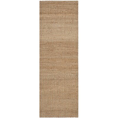 Muriel Hand Woven Brown Area Rug Rug Size: Runner 26 x 6