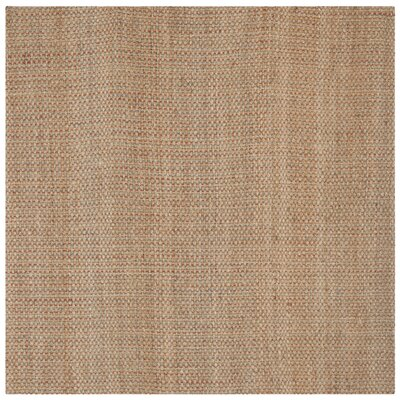 Muriel Hand Woven Brown Area Rug Rug Size: Square 6