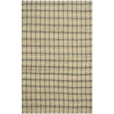 Montfort Green / Natural Area Rug Rug Size: Rectangle 4 x 6