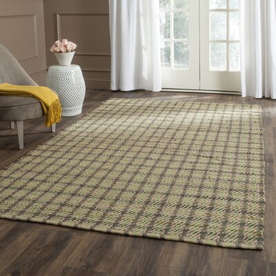 Montfort Green / Natural Area Rug Rug Size: 5 x 8