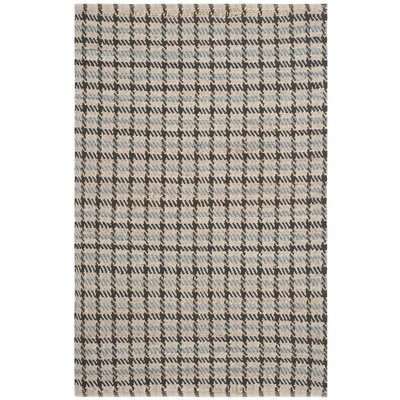 Montfort Hand-Woven Cotton Gray/Natural Area Rug Rug Size: Rectangle 4 x 6