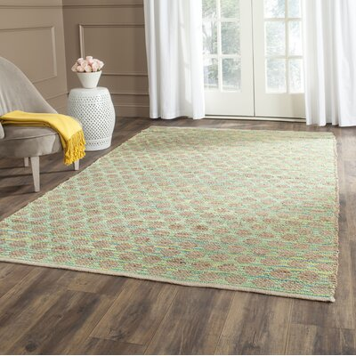 Montfort Teal / Natural Area Rug Rug Size: Rectangle 4 x 6
