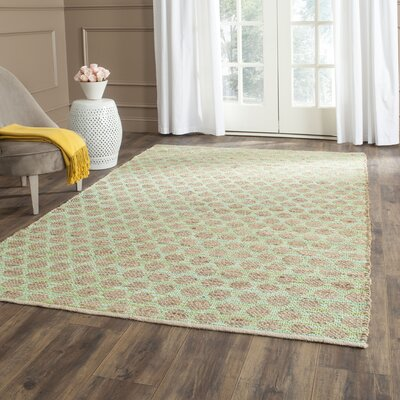 Montfort Green / Natural Area Rug Rug Size: Rectangle 5 x 8