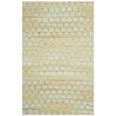 Montfort Green / Natural Area Rug Rug Size: 4 x 6