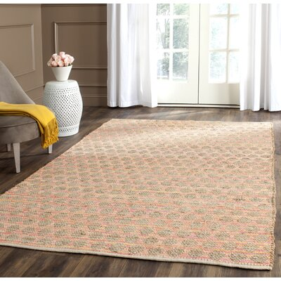 Montfort Orange / Natural Area Rug Rug Size: Rectangle 9 x 12