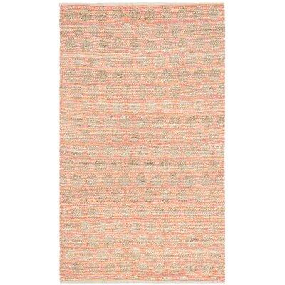 Montfort Orange / Natural Area Rug Rug Size: Rectangle 3 x 5