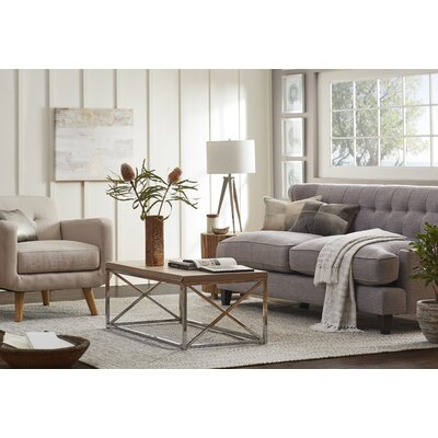 Carson Wingback Sofa Upholstery Color: Gray