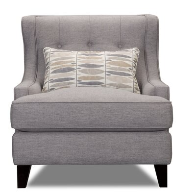 Carson Wingback Armchair Upholstery: Gray