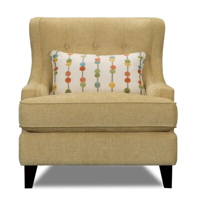Carson Wingback Armchair Upholstery: Tandem Saffron