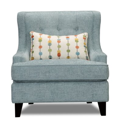 Carson Wingback Armchair Upholstery: Tandem Spa