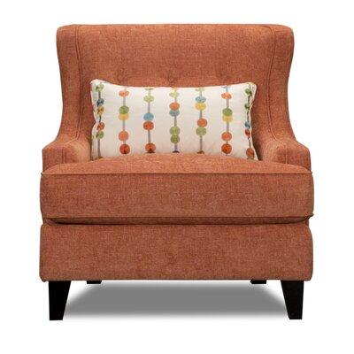 Carson Wingback Armchair Upholstery: Tandem Mandar
