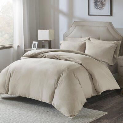 Motte Cotton Pillowcase Size: King, Color: Khaki