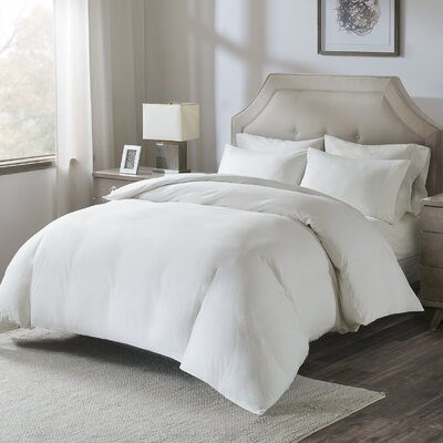 Motte Cotton Pillowcase Size: King, Color: White