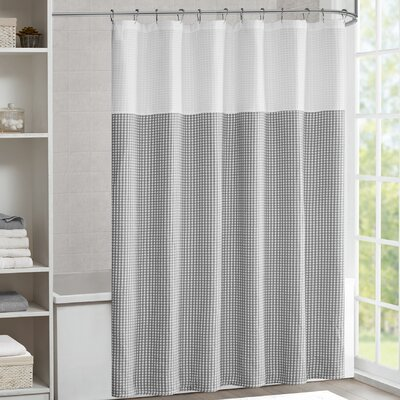 Moreland Shower Curtain Color: Gray
