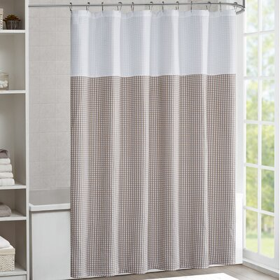 Moreland Shower Curtain Color: Taupe