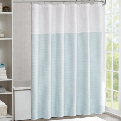 Moreland Shower Curtain Color: Seafoam