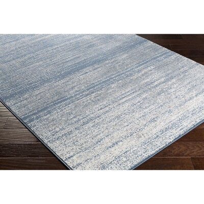 Myra Teal & Gray Area Rug Rug Size: Rectangle 2 x 37