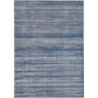 Myra Teal & Gray Area Rug Rug Size: Rectangle 53 x 73