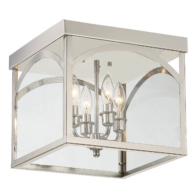 Mount Airy 4-Light Flush Mount Finish: Polished Nickel