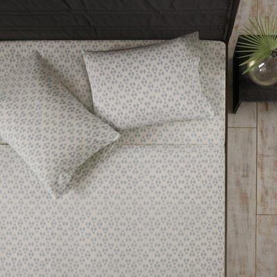 Mosley 100% Cotton Sheet Set Size: Queen, Color: Gray