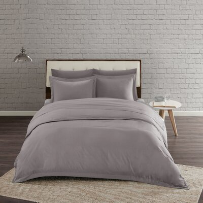 Morneau Mini Cotton Duvet Set Size: Full/Queen, Color: Grey