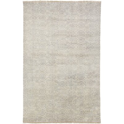Harrisville Mauve/Light Gray Area Rug Rug Size: 86 x 116