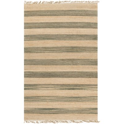 Morissette Hand-Woven Wheat/Dark Green Area Rug Rug size: 2 x 3