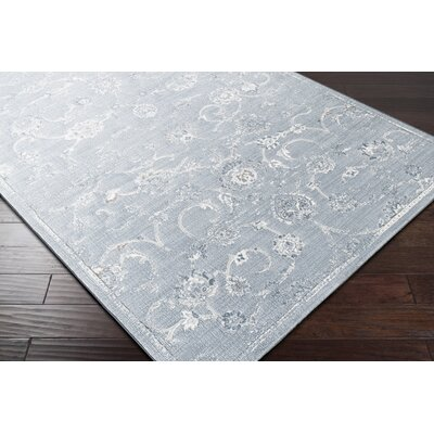 Navya White/Blue Area Rug Rug Size: Rectangle 710 x 10