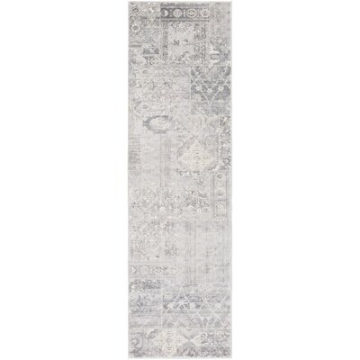 Hatboro Metallic/Gray Area Rug Rug Size: Runner 23 x 71
