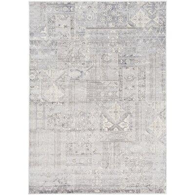 Hatboro Metallic/Gray Area Rug Rug Size: 53 x 73
