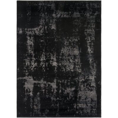 Hatboro Black/Neutral Area Rug Rug Size: 53 x 73