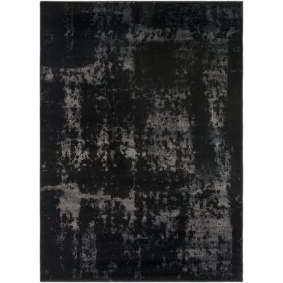 Hatboro Black/Neutral Area Rug Rug Size: 710 x 102